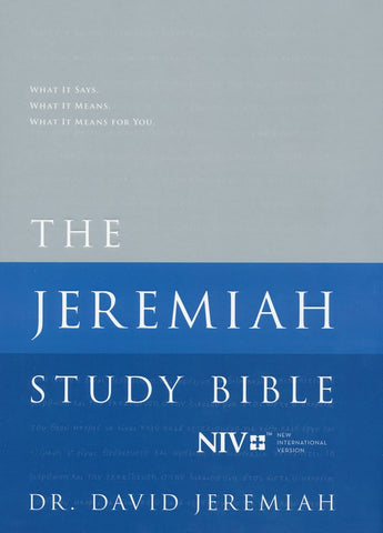 NIV The Jeremiah Study Bible (Jacketed Hardcover)