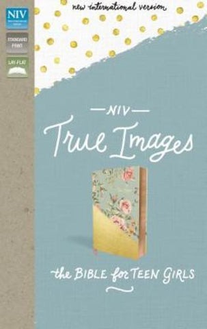NIV True Images Bible (Imitation Leather, Blue/Gold)
