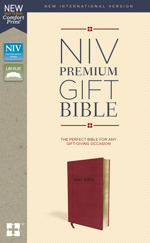 NIV Premium Gift Bible (Leathersoft, Burgundy)