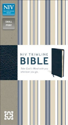 NIV Trimline Bible (Bonded Leather, Navy)
