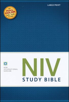 NIV Large Print Study Bible (Hardcover)