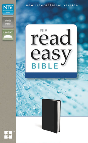 NIV Read Easy Bible (Large Print, Imitation Leather, Black)