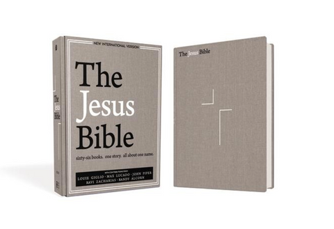 NIV The Jesus Bible (Cloth-over-Board, Gray Linen)