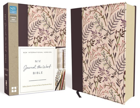 NIV Journal the Word Bible (Cloth Over Board, Pink Floral)