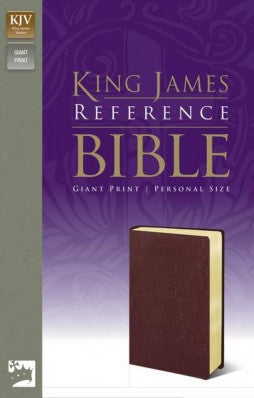 KJV Giant Print Reference Bible - Personal Size, Burgundy