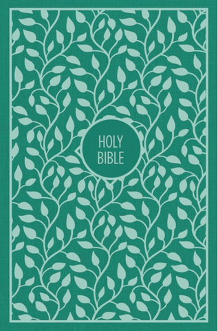KJV Thinline Large Print Bible (Cloth Over Board, Green)