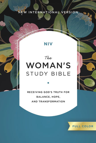 NIV The Woman's Study Bible (Hardcover, Cloth-over-Board, Blue Floral)