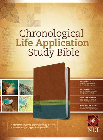NLT Chronological Life Application Study Bible (Imitation Leather, TuTone)