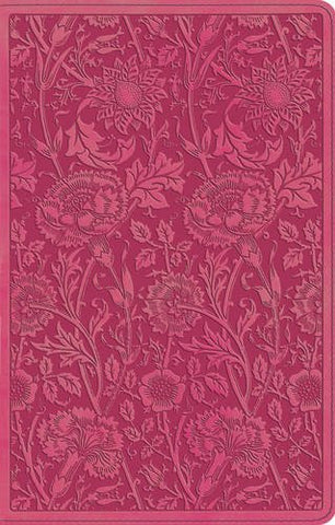 ESV UltraThin Bible - TruTone (Berry, Floral Design)