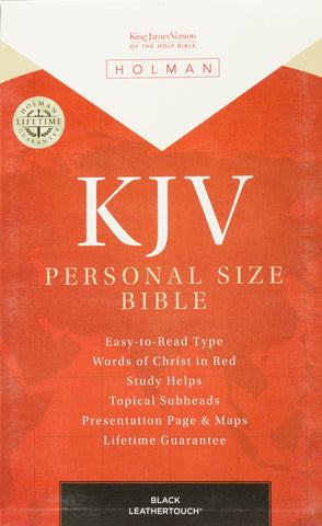 KJV Personal Size Bible (Black Leathertouch)