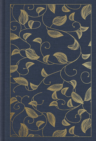 ESV Student Study Bible (Imitation Leather, Cloth-over-Board, Navy, Vine Design)