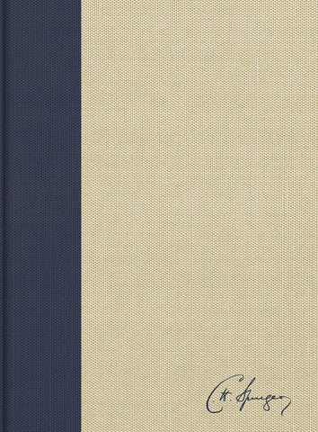 KJV Spurgeon Study Bible (Cloth-over-Board, Navy/Tan)