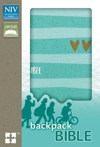 NIV Backpack Bible - Compact (Flex Cover, Turquoise/Gold)
