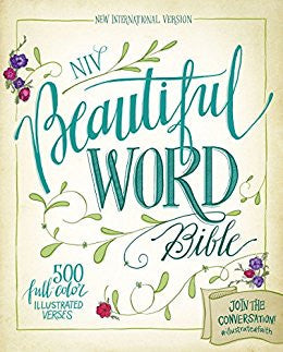 NIV Beautiful Word Bible (Leathersoft, Tan/Pink)