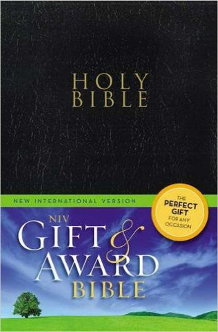 NIV Gift & Award Bible (Black, Leather-look)