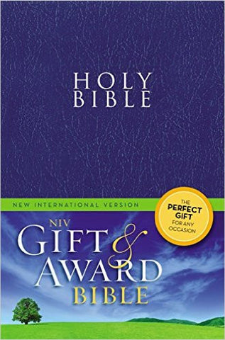NIV Gift & Award Bible (Blue, Leather-look)