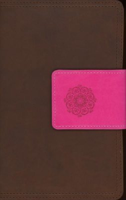 NIV Real-Life Devotional Bible for Women (Compact, Leathersoft, Brown/Pink)
