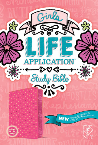 NLT Girls Life Application Study Bible (Imitation Leather, Pink)