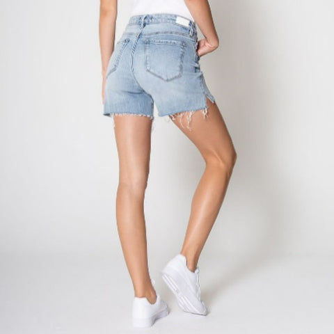 summer jean shorts by KUT from the Kloth on a model from 308 Boutique