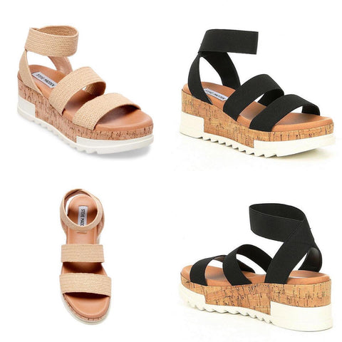 Steve Madden Espadrilles sandals in tan and black from the 308 boutique in omaha
