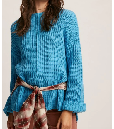 folded cuffs bell sweater from 308 boutique