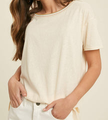 Short Sleeve Scoop Neck Basic