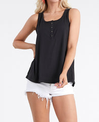 Button Front Soft Tank