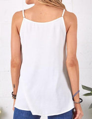 Solid Front Button Woven Cami