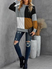 Color-Block Pullover Sweater