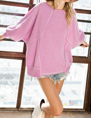 Dolman Sleeves Solid Tunic Top