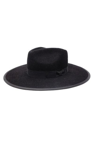 BARRY Flat Brim Wool Fedora Hat