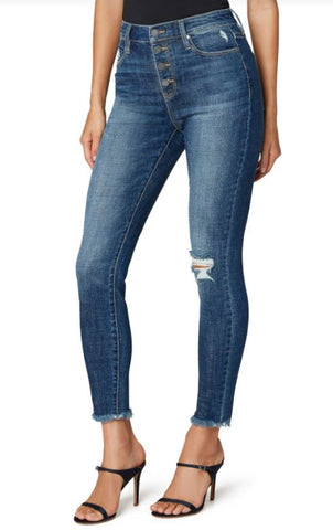 Abby Ankle Skinny Button Fly 28""