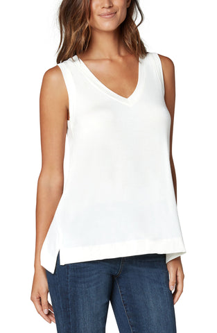 Sleeveless V-Neck Knit Tee
