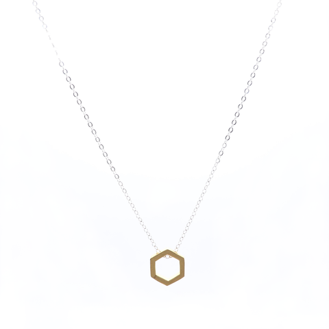 Honey Hollow Octagon Necklace 16""