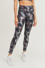 Foil Snake Print Highwaist Leggings