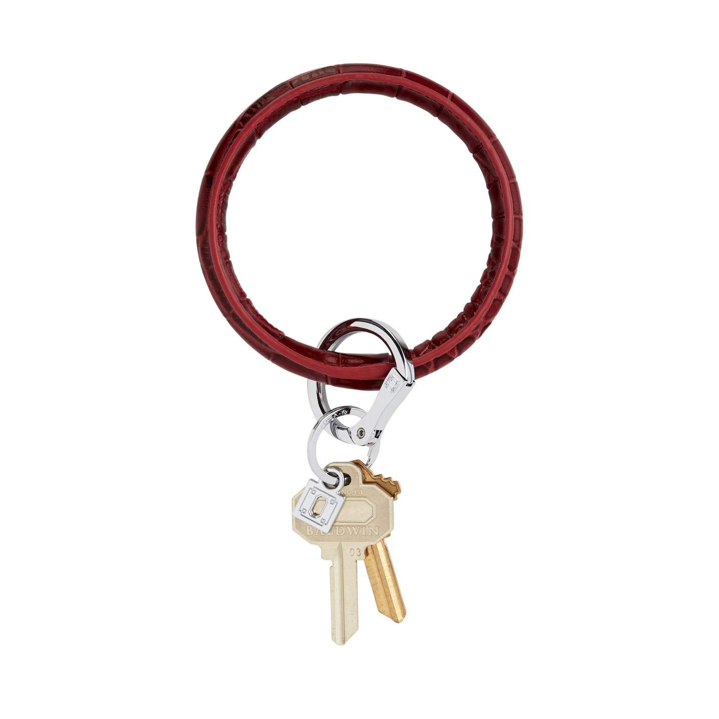 Leather Big O Key Ring
