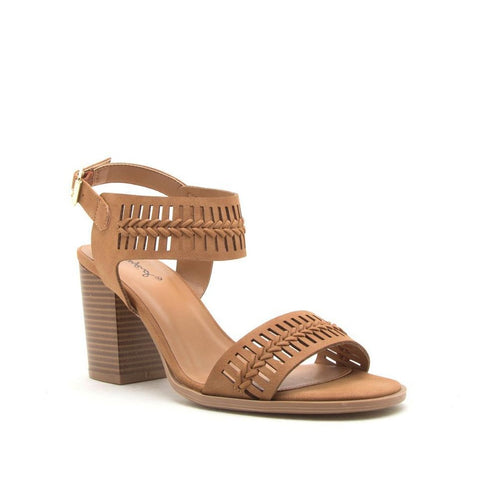 One Band Ankle Perforated Sandal