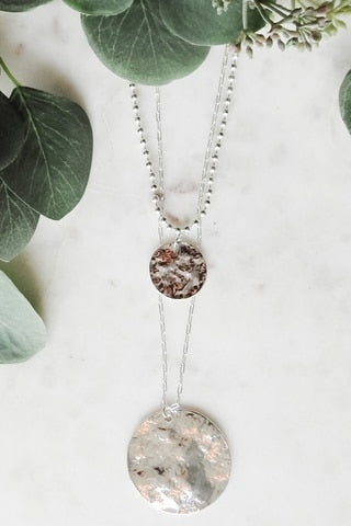 Two-Layer Circle Pendant Necklace