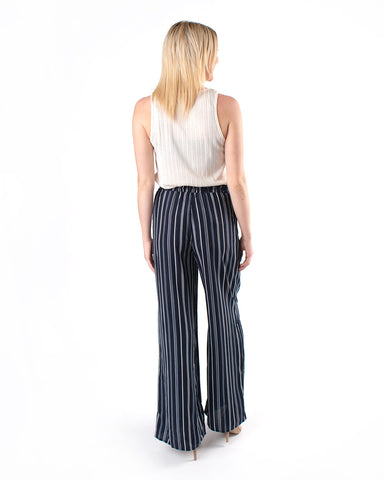 Striped High Rise Pants