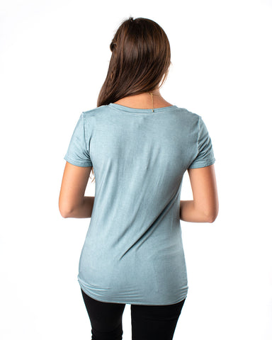 Basic Short Sleeve V-Neck Tee