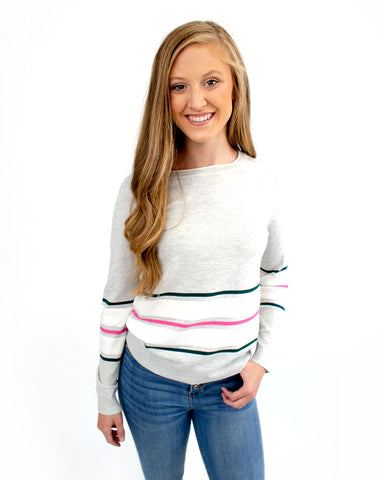Bottom Stripes Long Sleeve Top