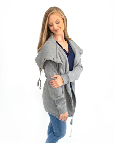 Wide Collar Fleece Jacket