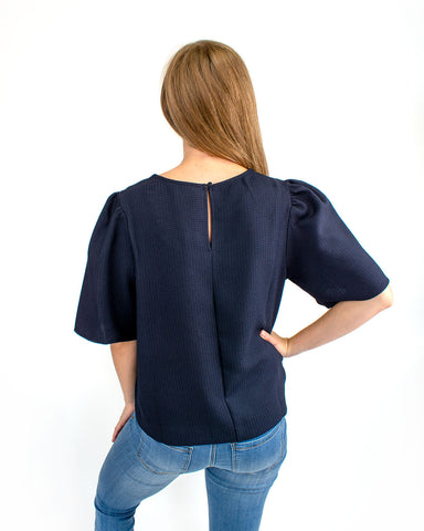 Cropped Wide Sleeve S/S Top