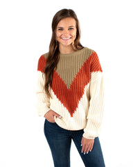 Varsity Blocked Sweater