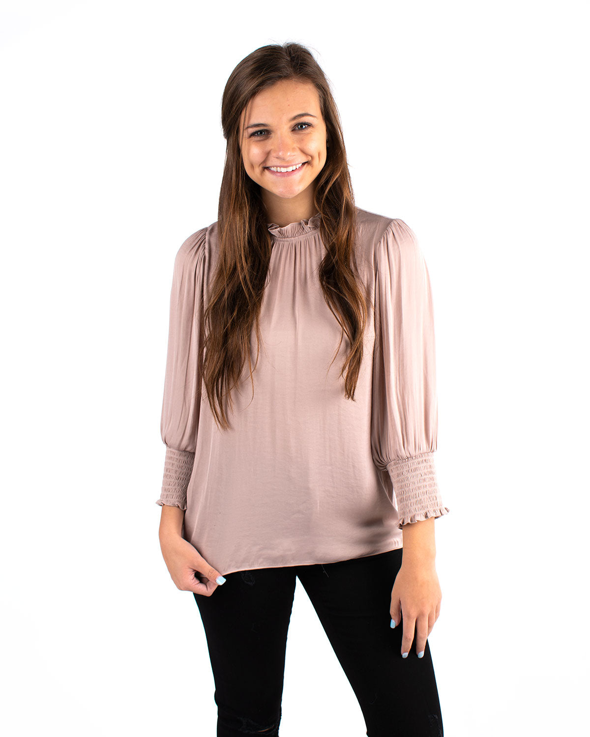 3/4 Sleeve Regular Shoulder Top