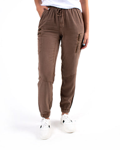 Tencel Jogger W/ Patch Pockets