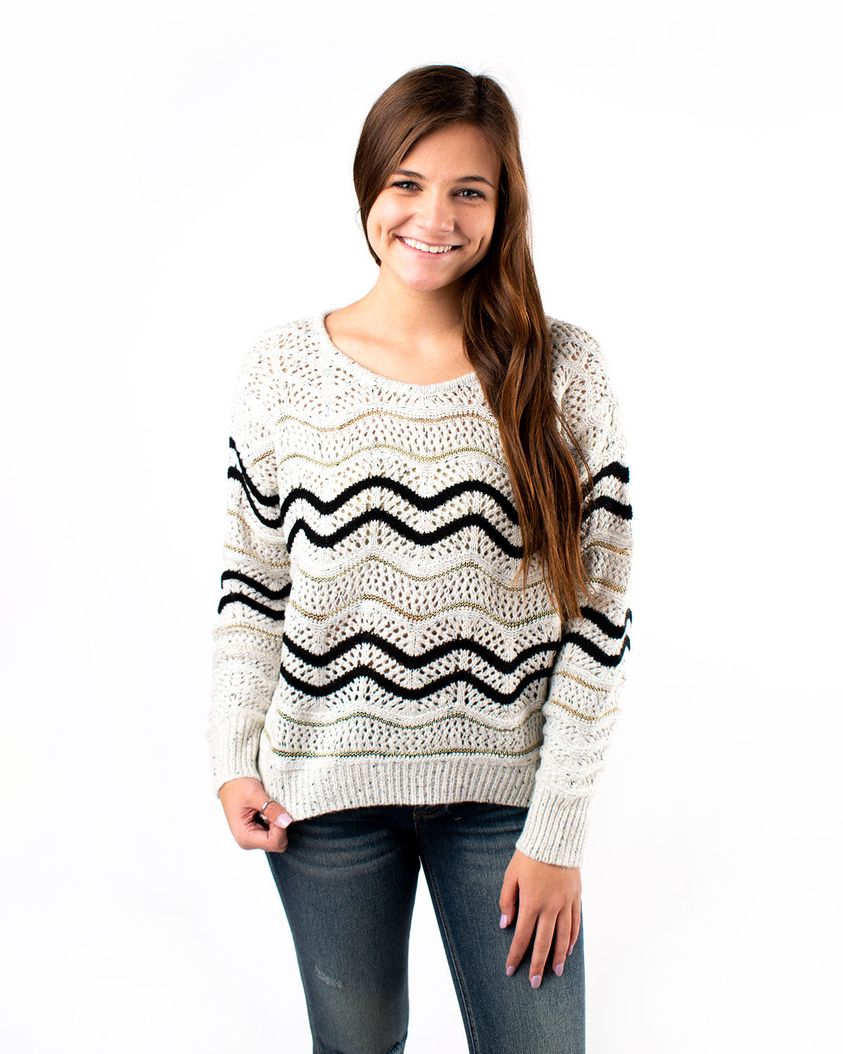 Chevron Highlow Sweater