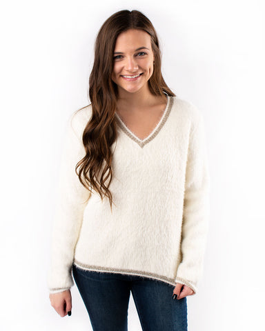Sparkle Vneck Sweater