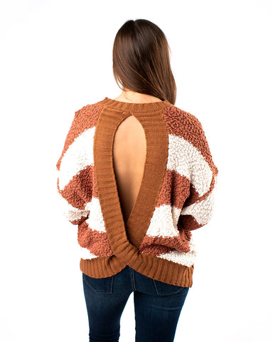 Open Back Popcorn Sweater