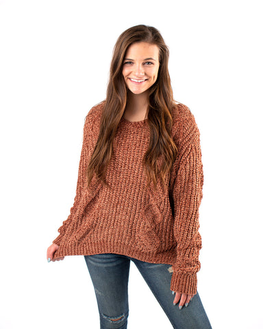 Snug Cable Knit Sweater